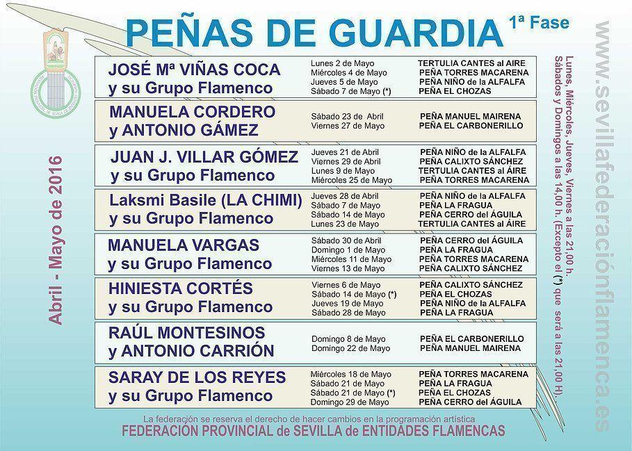 Peñas de Guardia 2016 (1ª Fase)