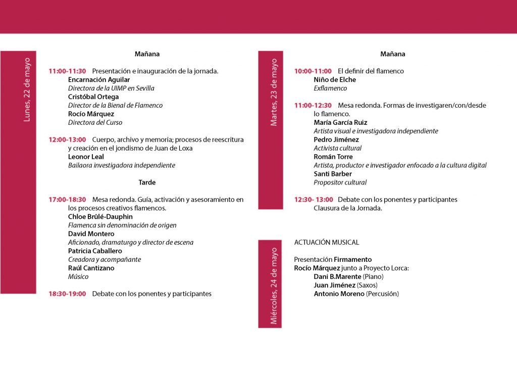 Investigación y creación en el flamenco actual (Formación)