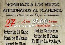 Homenaje a los viejos aficionados al flamenco